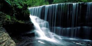 Tour object Bantimurung waterfall Sulawesi.