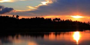Sunset at Limboto Lake, Gorontalo