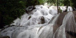 Panorama of Sauopa waterfall, central sulawesi