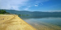 Yellow sand and white sand at poso lake