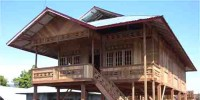 Wooden House of Woloan Village